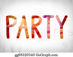 Retirement-Party - Party Concept Watercolor Word Art