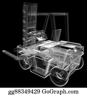 Tow-Truck - Isolated Transparent Forklift Truck