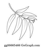Eucalyptus - Eucalyptus Rastr Icon In Line Style For Web