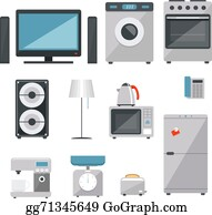 Vector Art Electric Stove Four Element Clipart Drawing