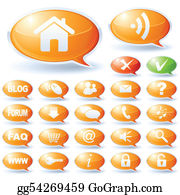 Internet speech bubbles collection