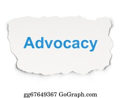 Law concept: Advocacy on Paper background