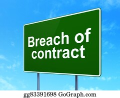 Law concept: Breach Of Contract on road sign background