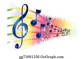 Vector Illustration - Music note border. Stock Clip Art ...