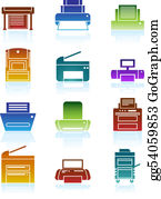 Printer Icons Color