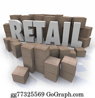 Retail Word Cardboard Boxes Store Products Inventory Stock