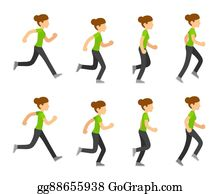 Running woman animation