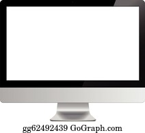 Screen computer isolated vector