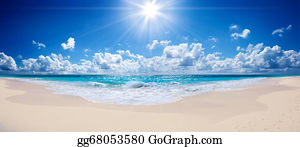 tropical beach and sea - landscape