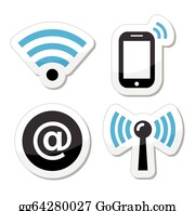 Wifi network, internet zone icons