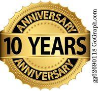 10th Anniversary Clip Art Royalty Free Gograph