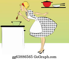 Woman Cooking Clip Art Royalty Free Gograph