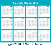 2018 calendar print template week starts sunday portrait orientation set of 12