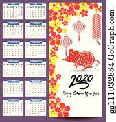 Calendar 2020 Clip Art - Royalty Free - GoGraph