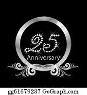 25th Anniversary Clip Art Royalty Free Gograph