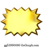 Stock Illustration 3d Golden Ladder Clipart