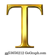 Capital Letter T Gold Stock Illustrations - Royalty Free