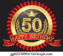 50 Years Happy Birthday Golden Labe