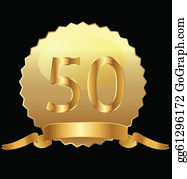 50th Anniversary Clip Art Royalty Free Gograph