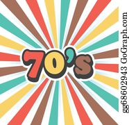 Vector Illustration - 70s music discography  vector