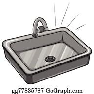 Awe Inspiring Sink Clip Art Royalty Free Gograph Home Interior And Landscaping Ymoonbapapsignezvosmurscom