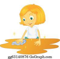Putzfrau vektor abbildung. Illustration von putzfrau - 32272550