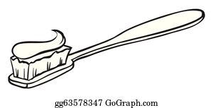 Toothbrush Clip Art - Royalty Free - GoGraph