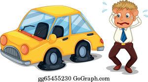 Flat Tire Clip Art Royalty Free Gograph