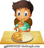 Thumb Image - Kids Eating Pizza Clipart, HD Png Download - vhv