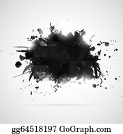Black And White Paint Splatter Clip Art - Royalty Free - GoGraph