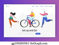 Vector Illustration Elderly People Fitness And Healthy