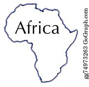 Africa Outline Map Clip Art Royalty Free Gograph