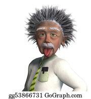 Einstein Hair Stock Illustrations - Royalty Free - GoGraph
