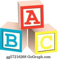 Alphabet Blocks Clip Art   Royalty Free   GoGraph