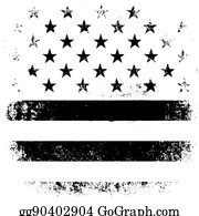 American flag black and white clipart 2 - WikiClipArt