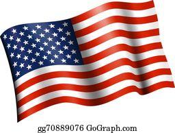 American Flag Clip Art - Royalty Free - GoGraph