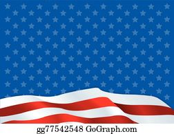 American Flag Background Clip Art - Royalty Free - GoGraph