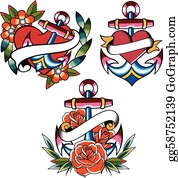 96b50be30 Tattoo Clip Art - Royalty Free - GoGraph