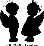Angel clipart black and white 9   Nice clip art