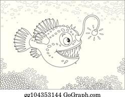 Anglerfish Clip Art Royalty Free Gograph