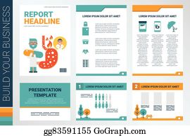 eps illustration book cover and presentation template vector