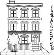 Apartment building Royalty Free Vector Clip Art illustration  -arch0004-CoolCLIPS.com