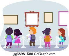 Clip arts gallery. Museum art royalty free