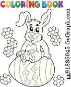 Rabbit Cartoon Lizenzfrei Gograph