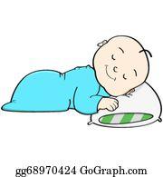 Baby Sleeping Clip Art - Royalty Free - GoGraph