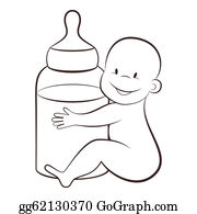 infant formula clip art royalty free gograph Gerber Baby baby with a bottle