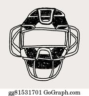 Catcher Mask Clip Art Royalty Free Gograph