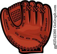 Baseball glove. Clip art royalty free
