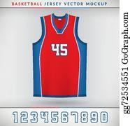 16b5c16c50d Basketball Jersey Clip Art - Royalty Free - GoGraph