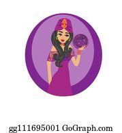 Royalty Free Gypsy Woman Clip Art - GoGraph